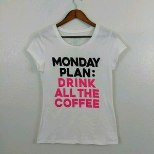 Wound Up Monday Coffee Plans Shirt Top